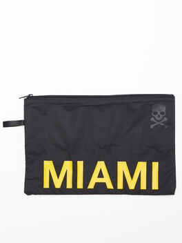 Miami Reusable Sweat Bag, Black, large