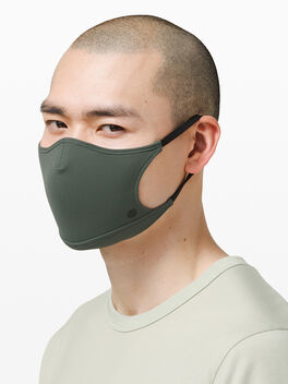 Ear Loop Face Mask Smoked Spruce, Green, large