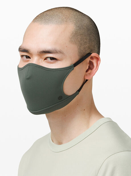 Ear Loop Face Mask Smoked Spruce, Green, large image number 1