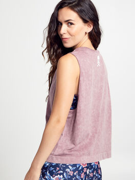 Mineral Wash Boxy Tank Top, Dusty Mauve, large