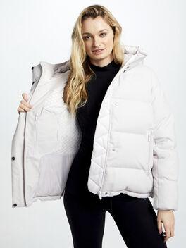 Wunder Puff Jacket Wool, Light Chrome/Heathered White, large