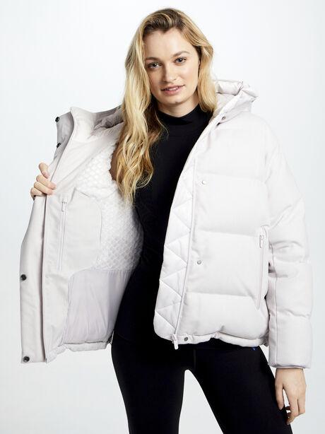 Wunder Puff Jacket Wool, Light Chrome/Heathered White, large image number 0