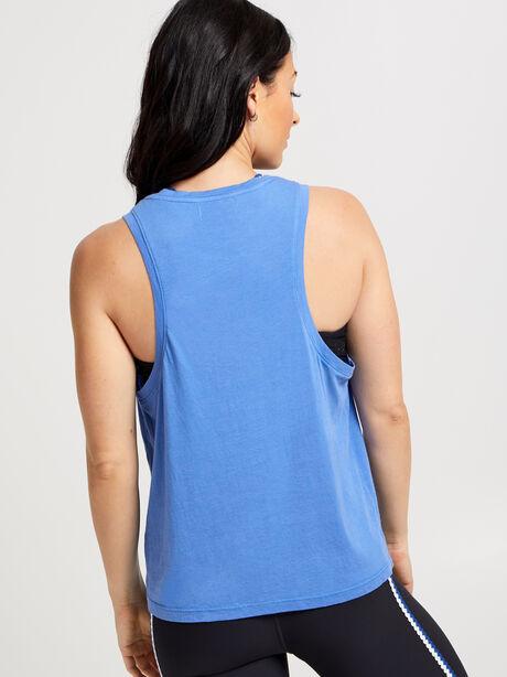Scoop Neck Tank Top, Blue, large image number 2