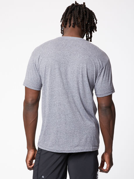 Men's SS Tri-Blend Crew, Premium Heather Grey, large image number 1