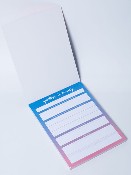 Goodbye Insecurity Notepad, Blue, large image number 2