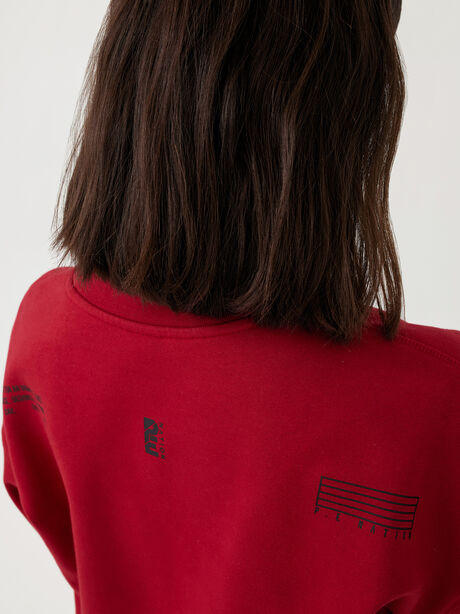 Courtside Sweatshirt Chilli Pepper, Red, large image number 2
