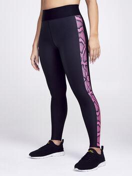 Ultra High Python Legging, Black/Pink, large
