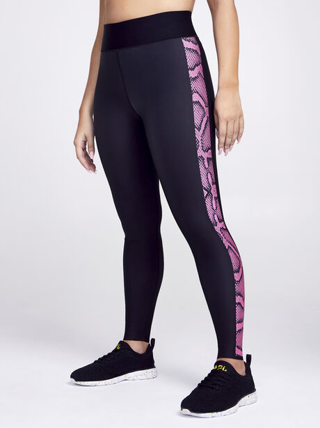 Ultra High Python Legging, Black/Pink, large image number 0