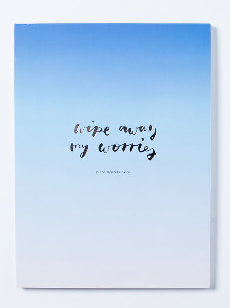 Wipe Away My Worries Notepad, Blue/White, large image number 0