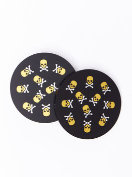 Exclusive Coasters, Black/Yellow, large