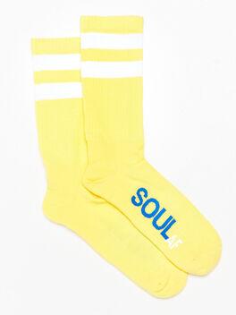 SoulAF® Calf Socks Yellow, Yellow, large