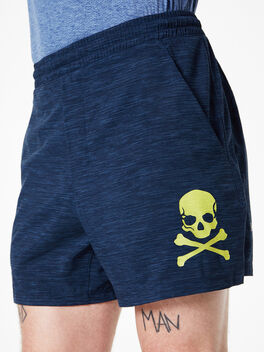 """Pace Breaker Lined Short 5"""" Heather Allover Iron Blue True Navy, Navy/Black, large"""