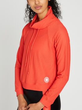 Pump Netz Pullover, Red, large