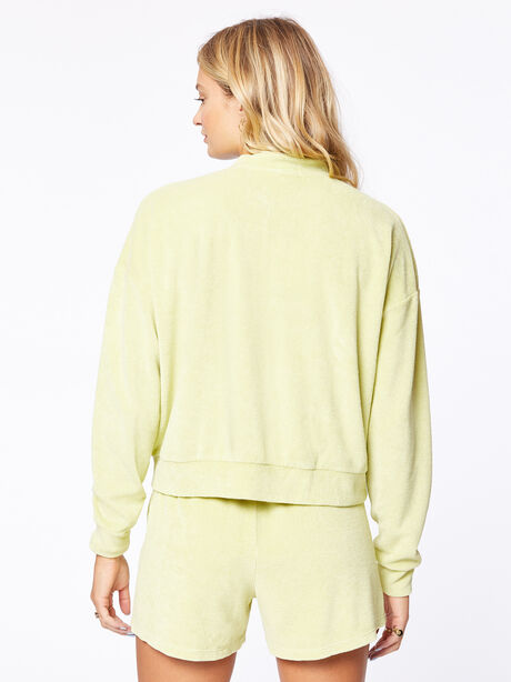 Terry Henley Sweatshirt Lime, Green, large image number 3