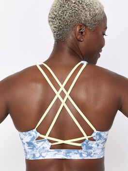 Looped X Back Tiedye Bra, Tie Dye, large
