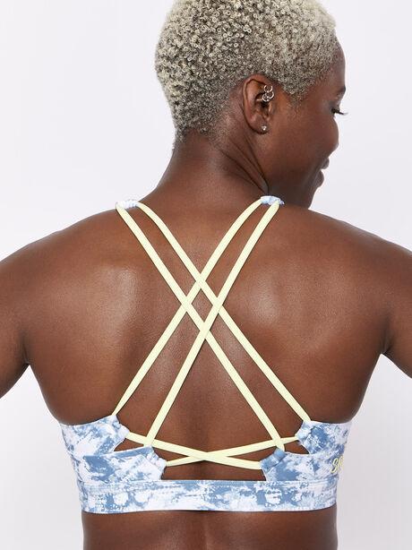 Looped X Back Tiedye Bra, Tie Dye, large image number 1