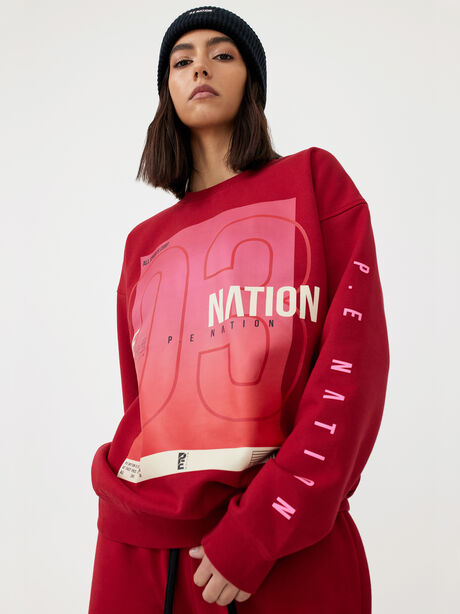 Courtside Sweatshirt Chilli Pepper, Red, large image number 3