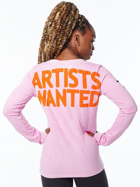 Artistswanted Supervintage Longsleeve Tee Pinkgumm Sunfade, Pink, large image number 2