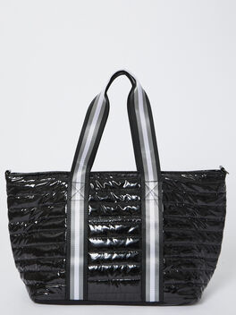Wingman Bag-Black Patent, Black Patent, large