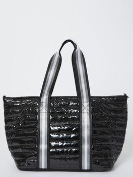 Wingman Bag-Black Patent, Black Patent, large