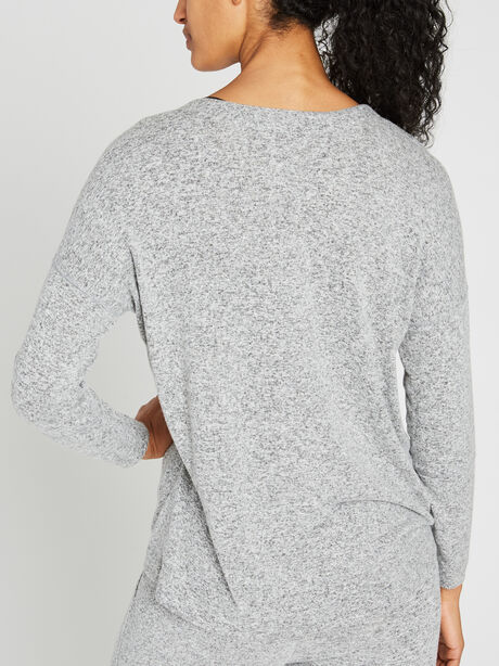 Leigh Lace Front Sweatshirt, Grey, large image number 1