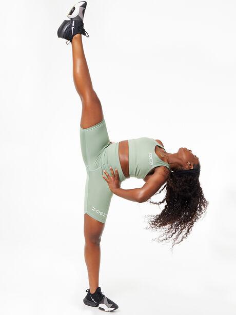 Tulia Mocha Biker Shorts Green, Green, large image number 5
