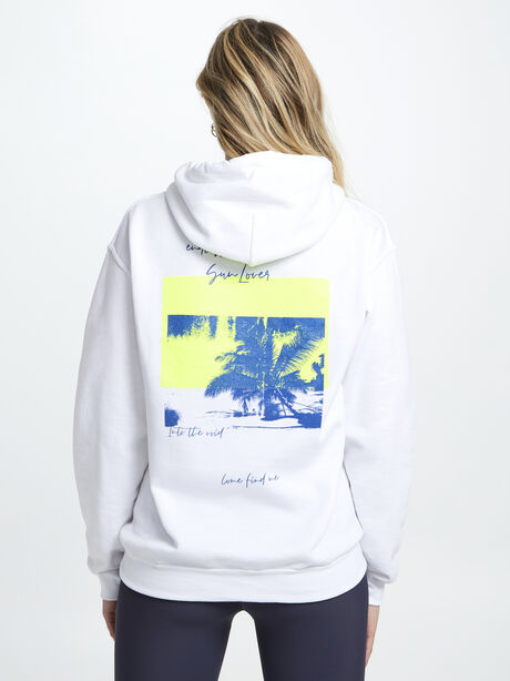 Sun Lover Hoodie, White, large image number 2