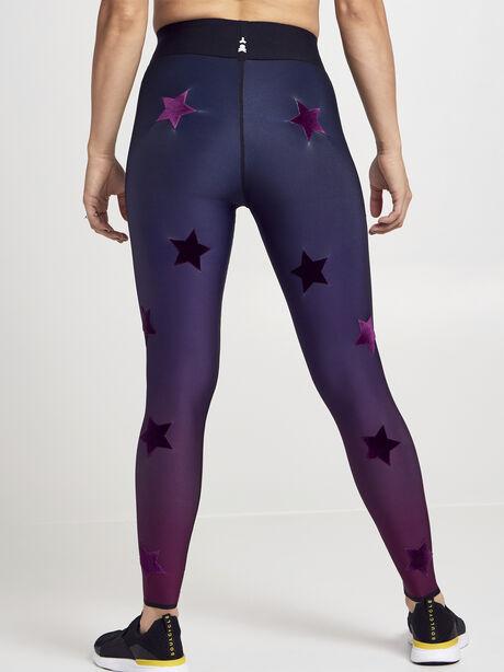 Velvet Star Gradient Ombre Leggings, Fuschia, large image number 1