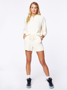 Terry Henley Short Cream, Off White, large