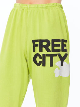 Large Sweatpant Hoppers Green, Green, large