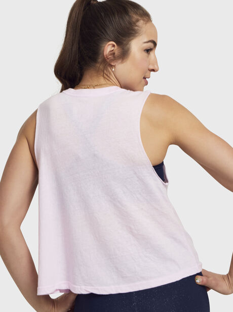 Iridescent Crop Tank Top, Pink, large image number 2