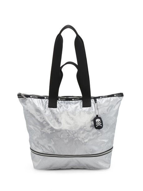 Medium Expandable Tote, Silver Camo, large image number 2