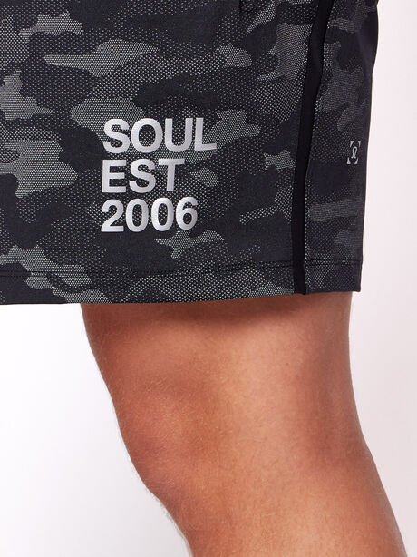 """Pace Breaker 7"""" Linerless Shorts, Variegated Mesh Camo Black, large image number 1"""