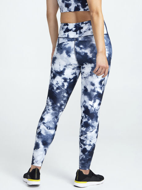 Contour And Print Leggings, Navy/White, large image number 1