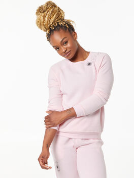 Classic Crew Pullover Pink, Pink, large