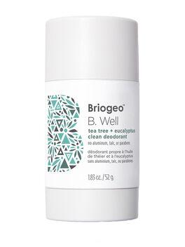 B. Well Tea Tree + Eucalyptus Clean Natural Deodorant, Clear, large