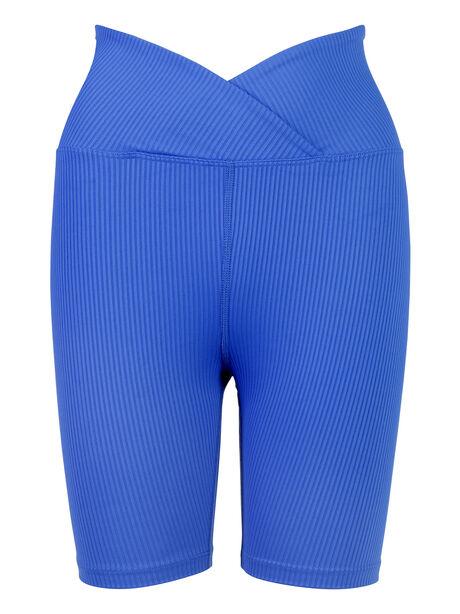 Ribbed Biker Short Blue, Blue, large image number 1