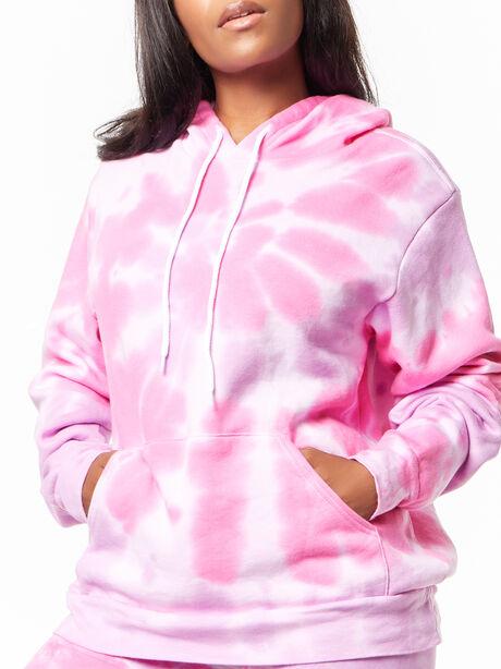 Tie-Dye Billie Hoodie Pink/Purple, Purple, large image number 2