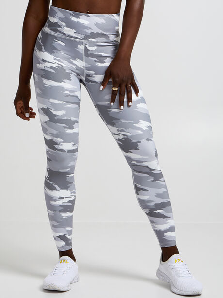 Brushed Camo Leggings, Light Grey Camo, large image number 0