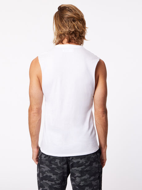 Activate Muscle Tank White, White, large image number 2