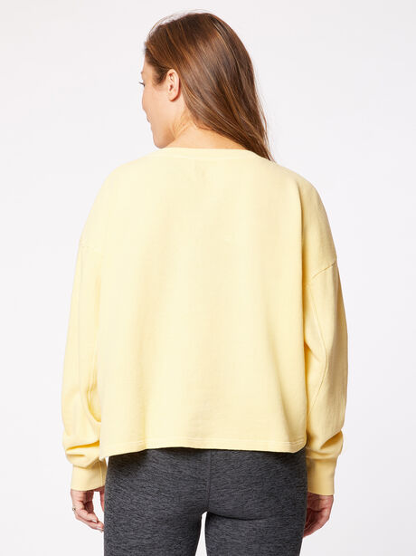 Collegiate Crew Neck Sweatshirt Yellow, Yellow, large image number 2