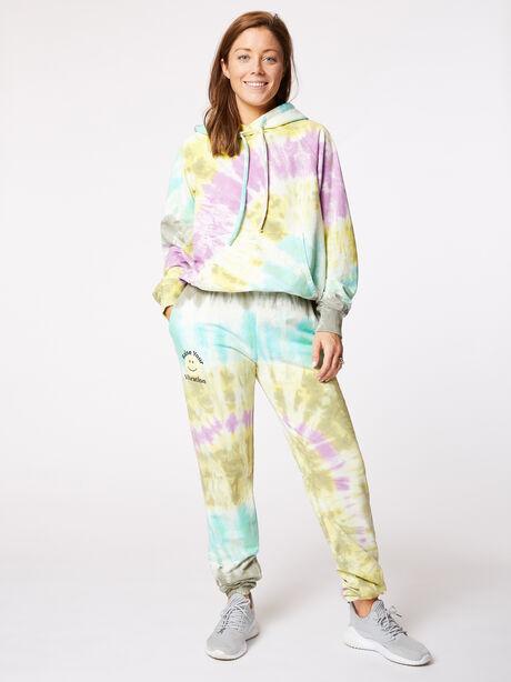 Boyfriend Hoodie Rainbow Tie-Dye, Tie Dye, large image number 3