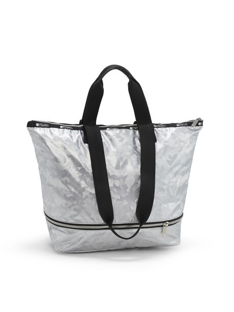 Medium Expandable Tote, Silver Camo, large image number 1