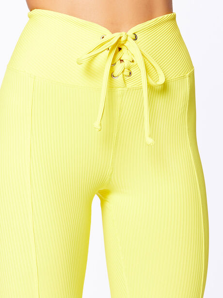 Exclusive Ribbed Football Legging Yellow, Yellow, large image number 1