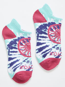 Tie Dye Ankle Sock, Blue/Orange, large