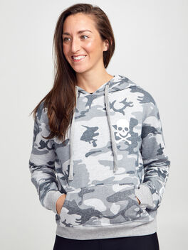CAMO CROPPED HOODIE, Grey, large