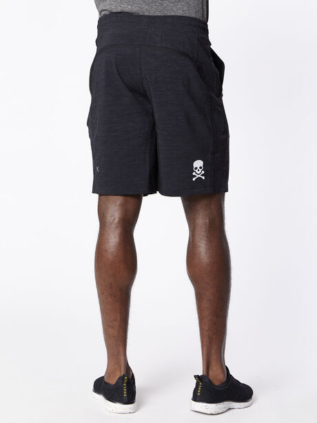 """Pace Breaker Short 9"""" lined, Heather Allover Deep Coal Blac, large image number 1"""