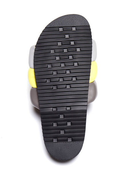 Exclusive The Puffy Slide Yellow/Grey, Yellow/Grey, large image number 3