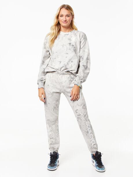 Tie-Dye Billie Sweatpant Black/White, Black/White, large image number 0