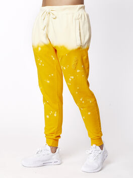 Acid Wash Sweatpant Sunrise, Yellow, large
